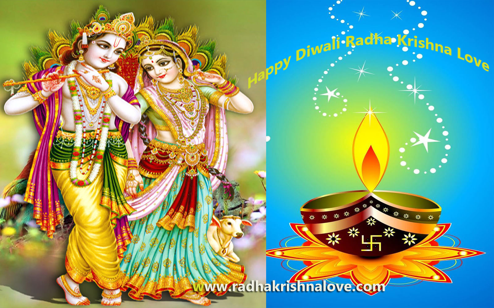 Radha Krishna Diwali Images HD
