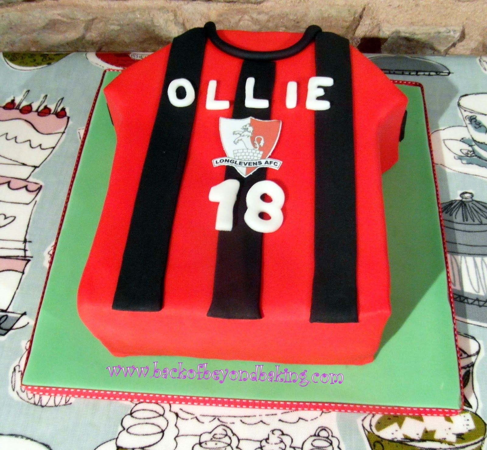 18th birthday football shirt cake
