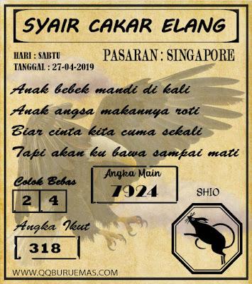 Syair SINGAPORE,27-04-2019