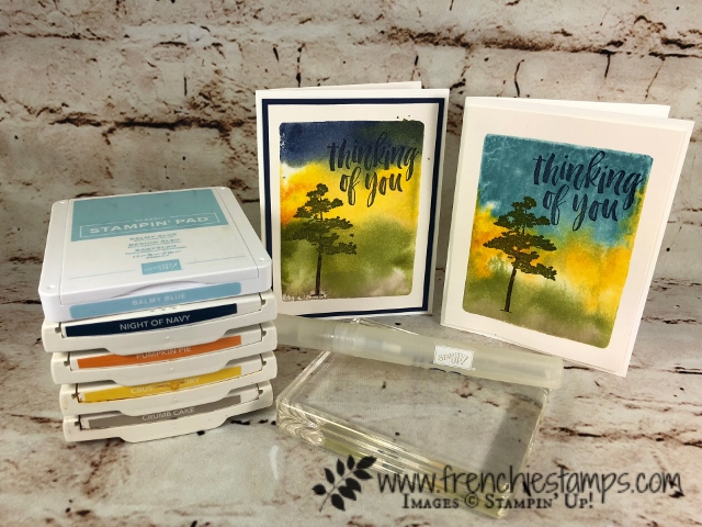 Acrylic Block, Clear Block Ink Pad Technique, Stampin'Up!, Rooted in Nature, Frenchie Stamps,