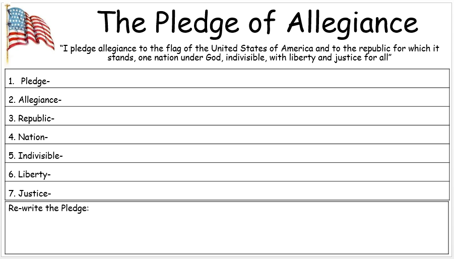 Empowered By Them The Pledge Of Allegiance