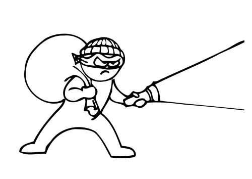 Desenhos de Ladrão para Colorir
