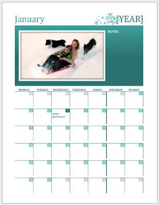 3 Format kalendar cantik 2017