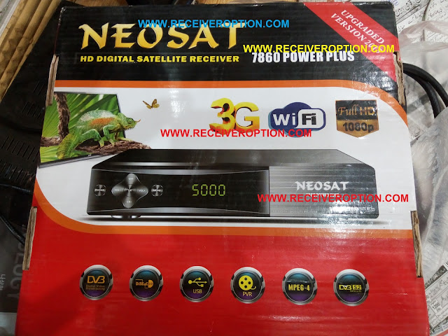 NEOSAT 7860 POWER PLUS HD RECEIVER CCCAM OPTION