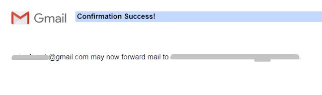 confirm forwarding emails
