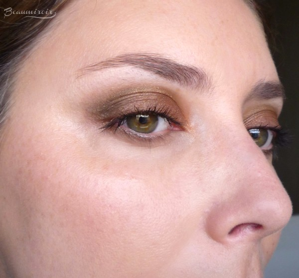 Wearing New Guerlain Coque d'Or Eyeshadow Palette: eye look motd fotd