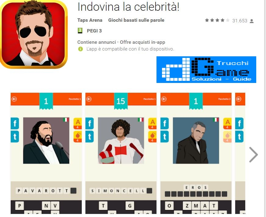 Soluzioni Indovina la celebrità di tutti i livelli | Walkthrough guide