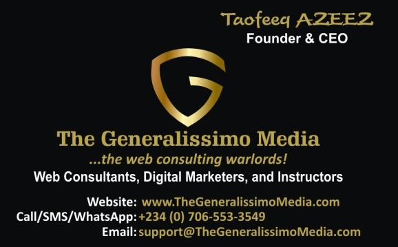 Taofeeq AZEEZ is a leading web consultant