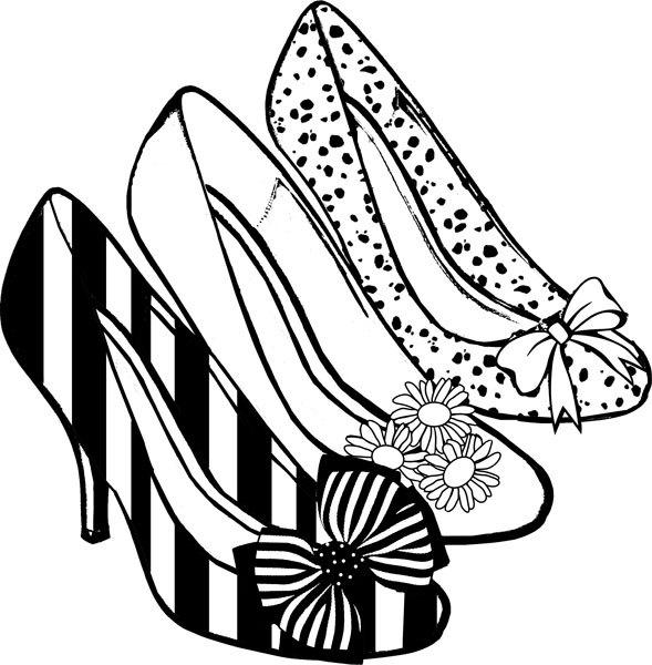zapato de mujer para colorear