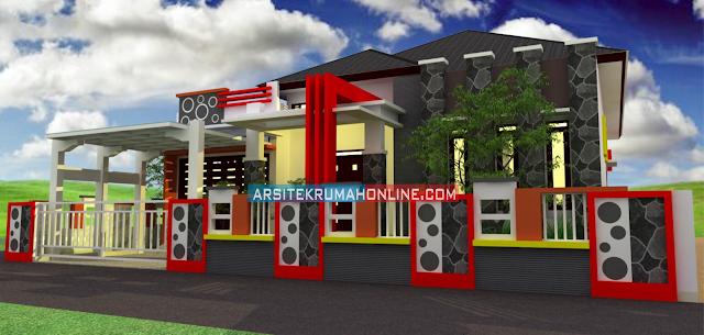 Desain Rumah Elegant Type 215 di Riau
