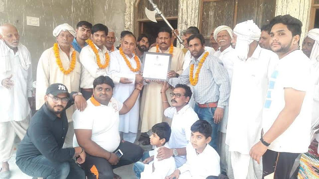 Pt Surendra Sharma Babli honored with the title of 'Guru ji'