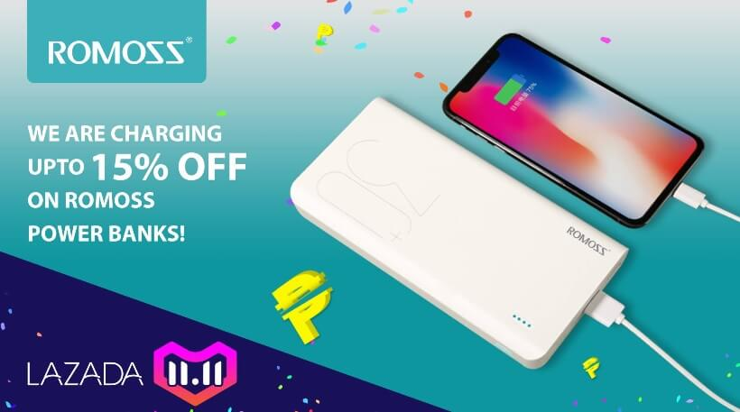 Romoss Offers up to 50% Discounts on Lazada 11.11 Shopping Festival