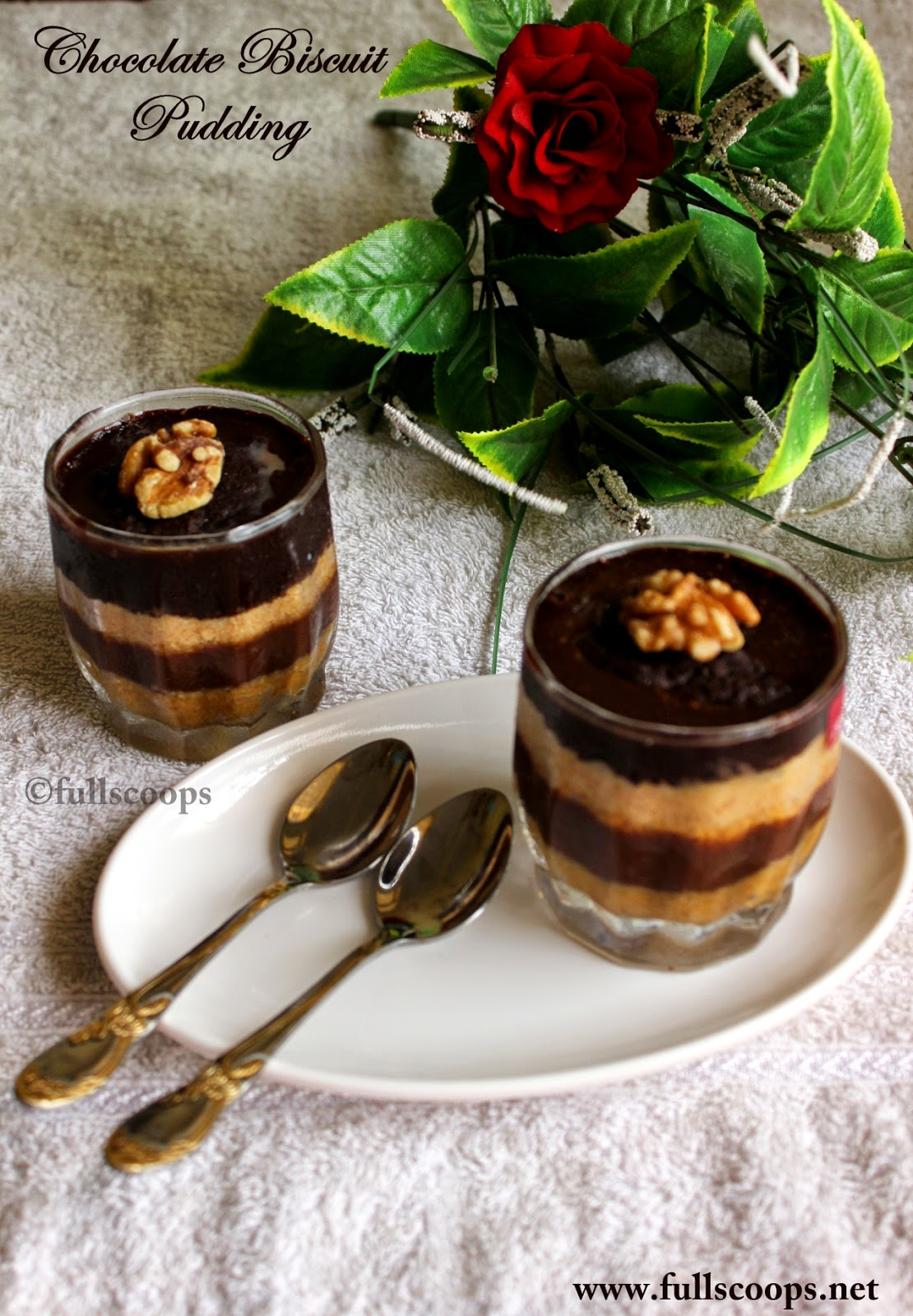 Chocolate Biscuit Pudding