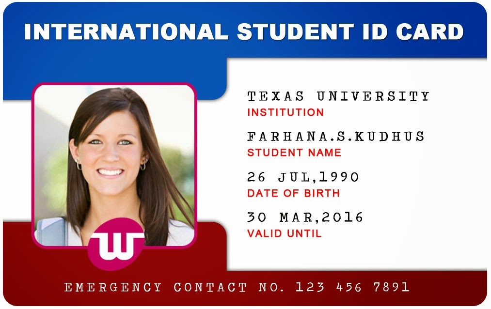 university id card template beautiful student id card templates desin and sample word