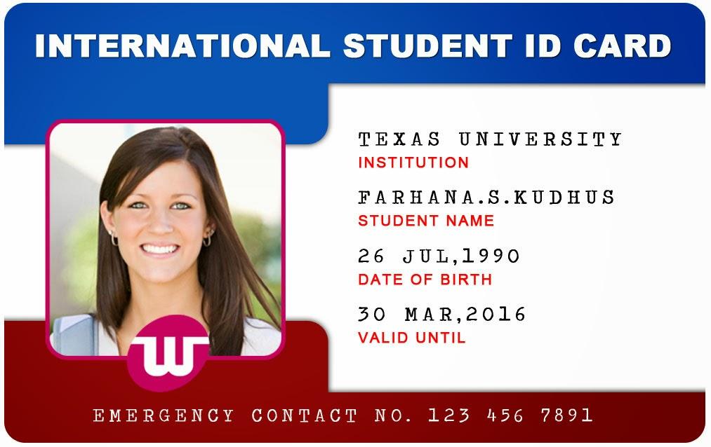 School Id Card Template | Template | Resume | Service