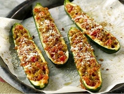 zapallitos italianos rellenos vegetarianos