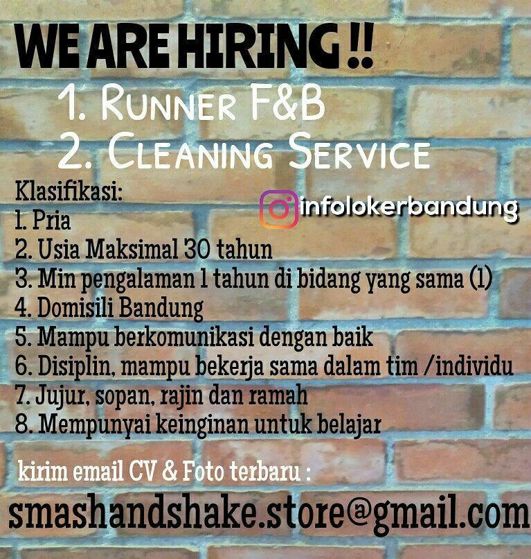 Lowongan Kerja Smash And Shake Cafe Bandung Desember 2017