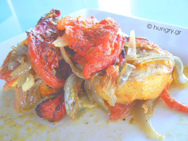 Oven Baked Fish with Tomato