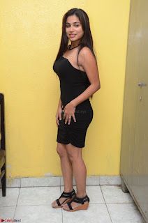 Vrushali Gosavi in strapless Short Black Dress At Follow Follow U Audio Launch 064.JPG