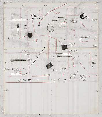 William Kentridge Drawing for 'Other Faces', 2011 charcoal and coloured pencil on ledger paper 79.06 x 67.31 cm