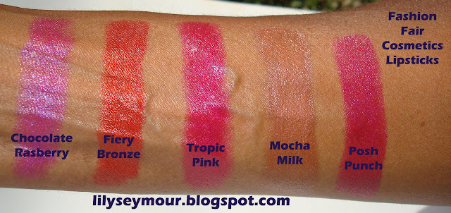 Fashion Fair Lipstick Swatches