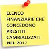 Prestiti cambializzati 2017 – chi offre questi finanziamenti?