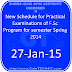 New Schedule for Practical Examinations of F.Sc Program for semester Spring 2014