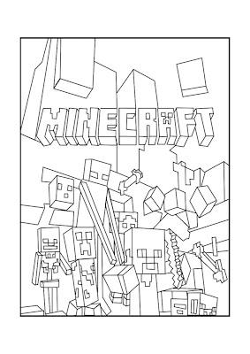 Desenhos de Minecraft para colorir e imprimir