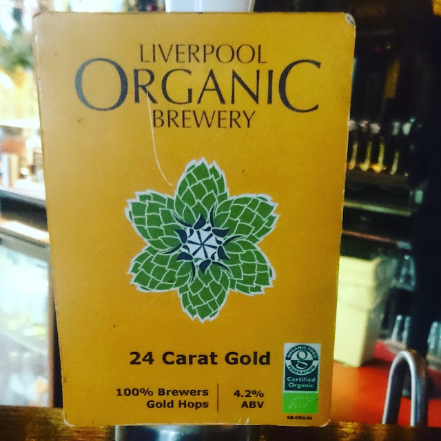 24 Carat from Liverpool Organic Brewery craft pbeer real ale pump cli
