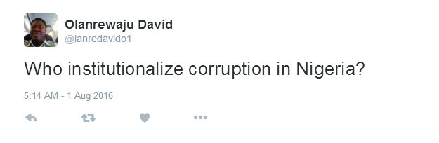 Who institutionalized corruption in Nigeria? - watch this guy's reply