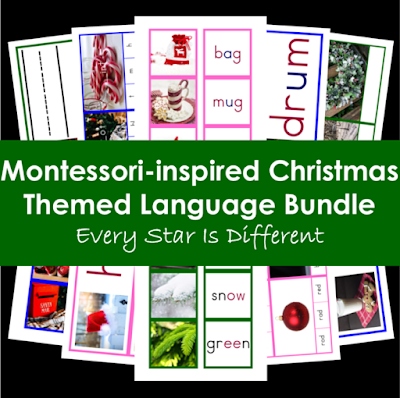 Montessori-inspired Christmas Themed Language Bundle
