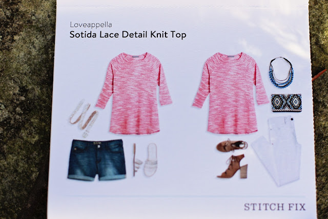 Stitch Fix Loveappella Sotida Lace Detail Knit Top