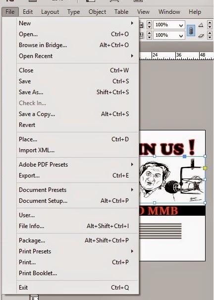 memasukan gambar poster_tutorial cara membuat poster di adobe indesign
