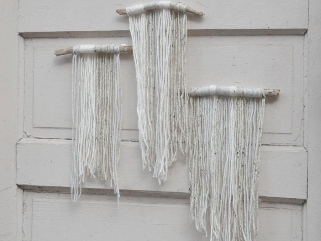 Basic Diy Yarn And Driftwood Macrame Wall Hanging For
