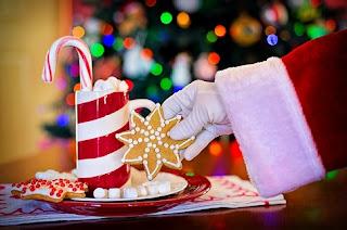 santa cookies n milk