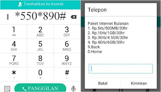 cara paket internet AS murah
