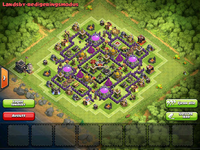 Base Clash of Clans Town Hall 9