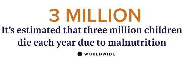 Malnutrition is a significant problem all over the world