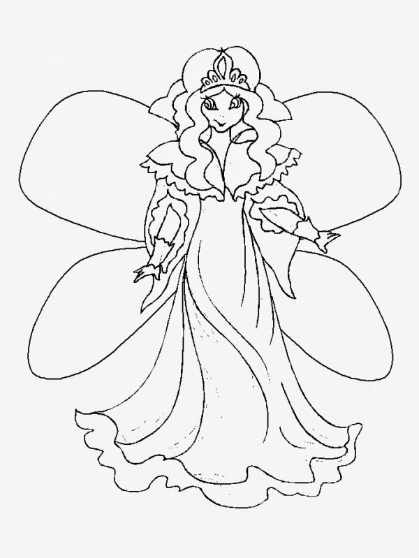 coloring book pages fairy