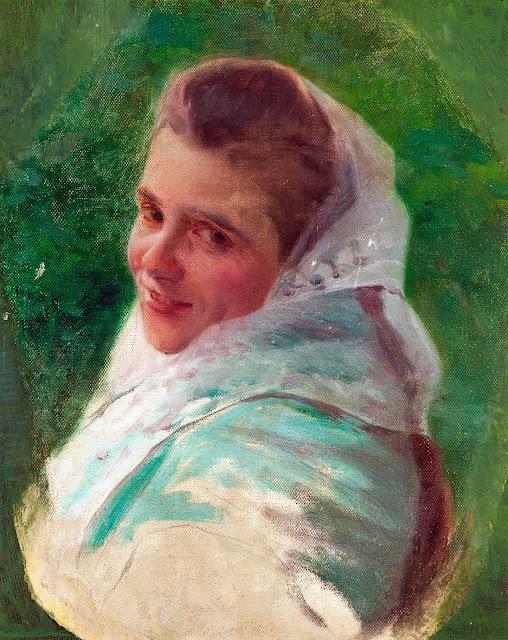 Retrato de una dama, Laureano Barrau Buñol, Pintor Catalán, Pintor español, Cuadros de Laureano Barrau Buñol, Barrau Buñol,  Laureano Barrau