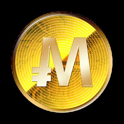 仮想通貨モナコイン裏面のフリー素材(金貨ver)
