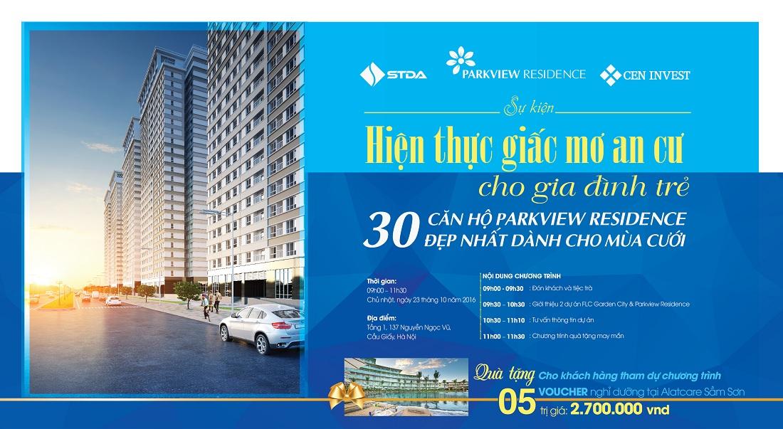 Thư mời dự lễ mở bán đợt cuối căn hộ Parkview Residence