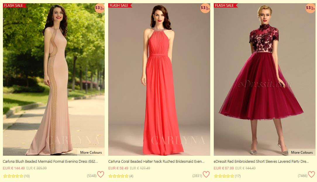 48d56d2ae372 24:00(Berim Time), we offer you Special Offer Flash Sale , every days 30  selected dresses up to 90%OFF, don't miss out.