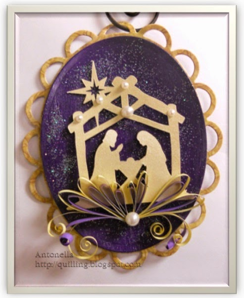 Quilled Nativity Ornament DIY from Antonella at www.quilling.blogspot.com