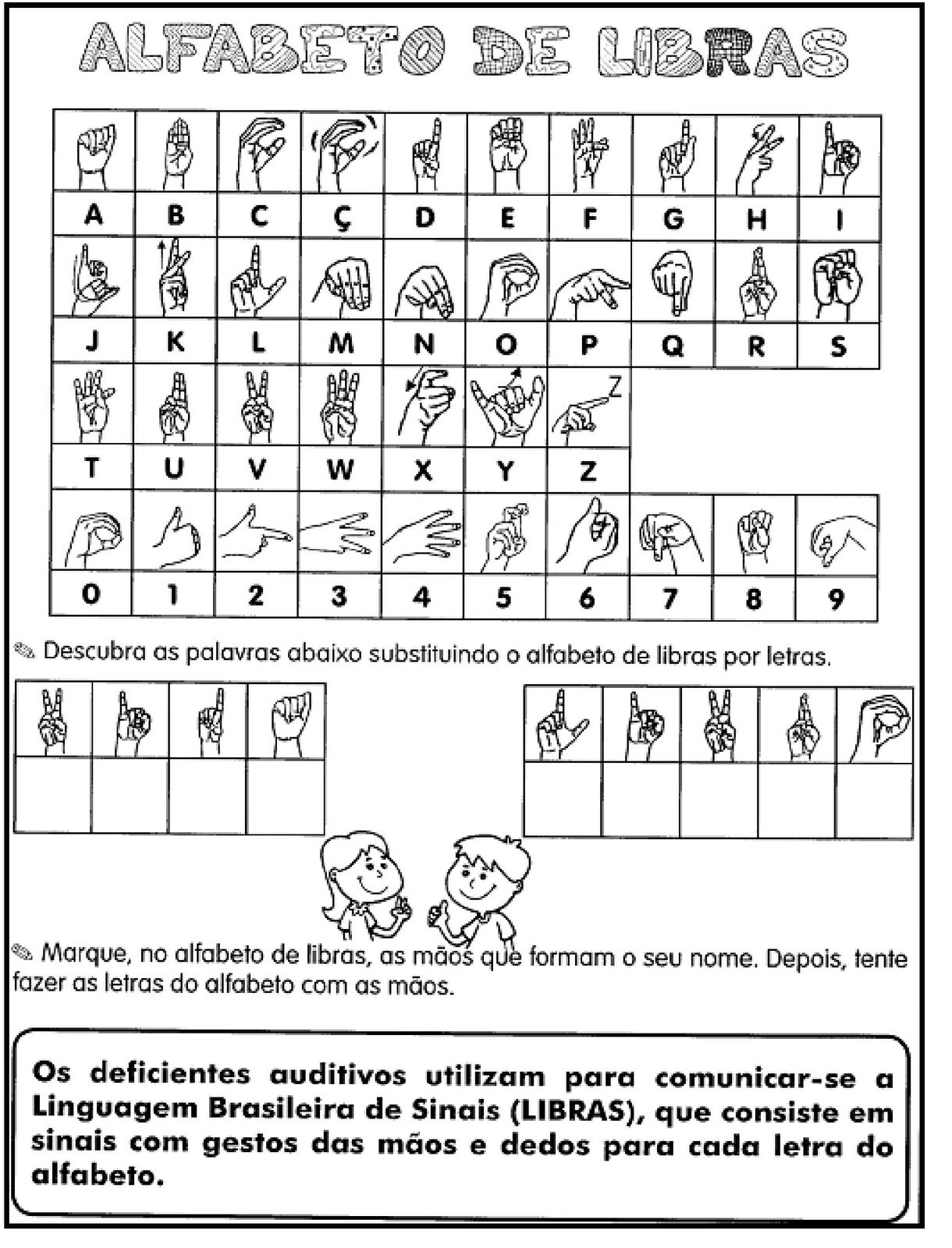 Atividade de alfabeto manual
