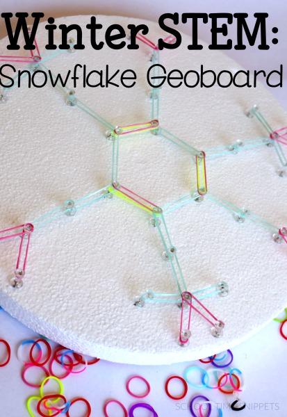 Snowflake STEM for kids