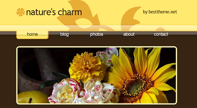 Brown Nature Theme Blogger Template