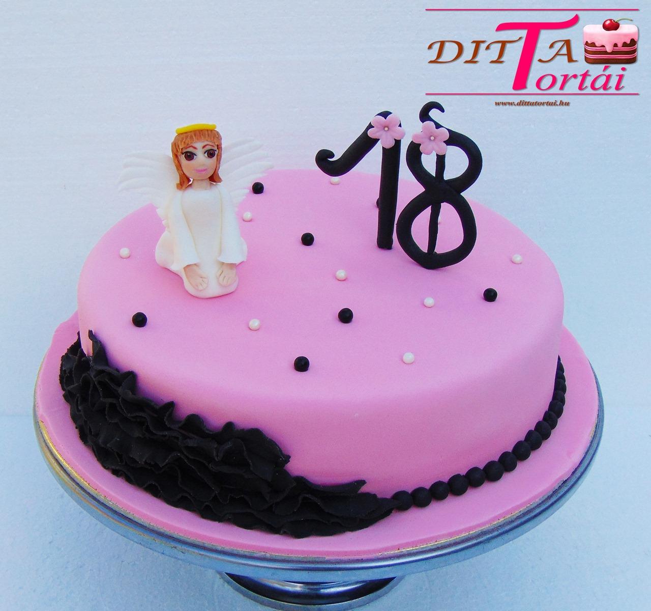 szülinapi torta 18 szülinapra Angyalkás torta 18. szülinapra   GasztroBlogok.hu szülinapi torta 18 szülinapra