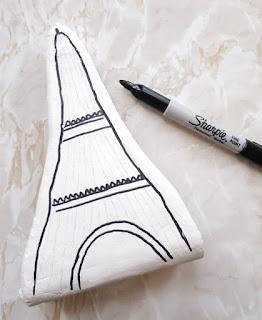 DIY. Sujetalibros Torre Eiffel.