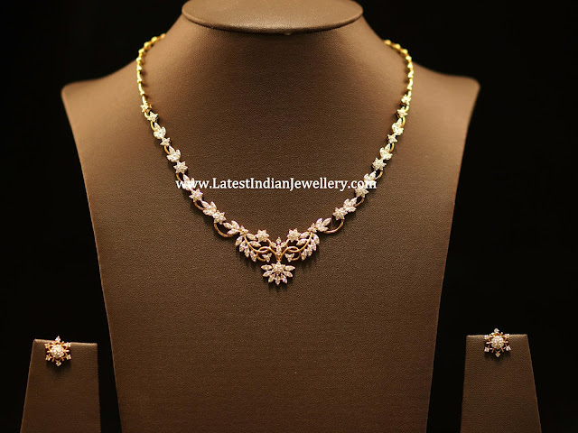Diamond Necklace with Studs